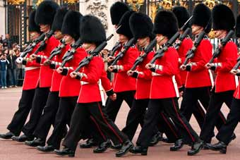 The Royal Guard of the Buckingham Palace